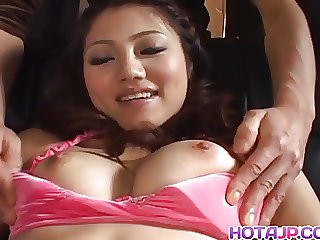 Aki Anzai gets vibrators on tongue and pussy